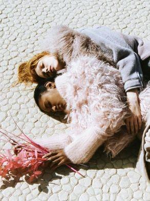 """""""On ramp to nowhere"""". Dani Witt and Ysaunny Brito by Marlene Marino for Love magazine Fall 2014"""