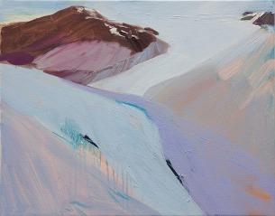 "Sarah Awad, ""Landing/Grounding"" 2011, Oil on canvas, 19″ x 24″"