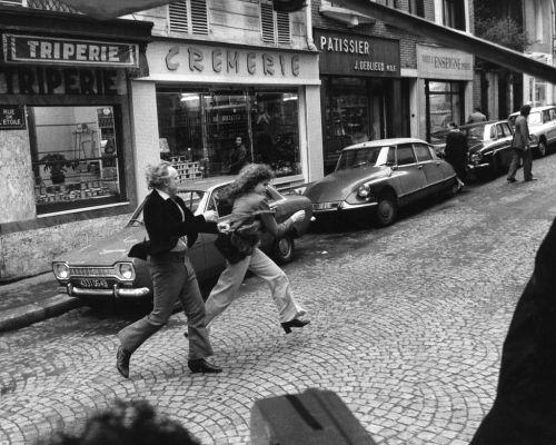 on set of Last Tango in Paris